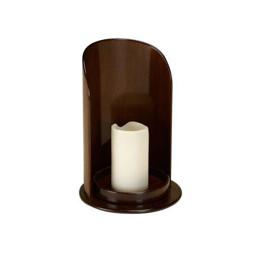 Mahogany Candleholder with Candle