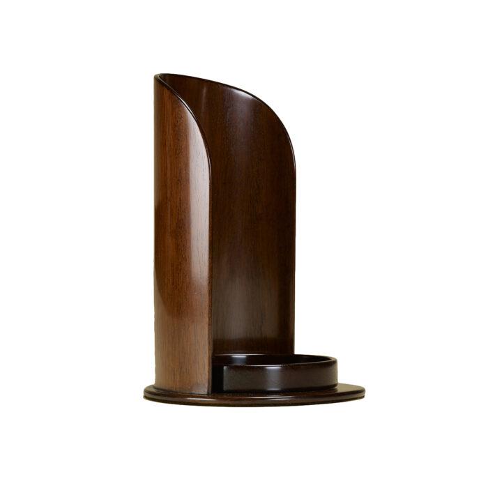 Mahogany Candleholder