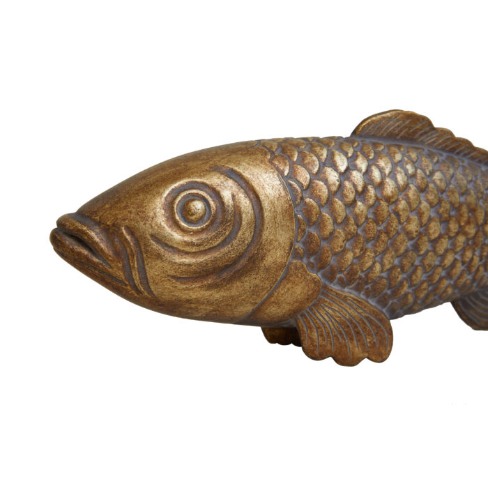 Pisces Fish Gold Close Up