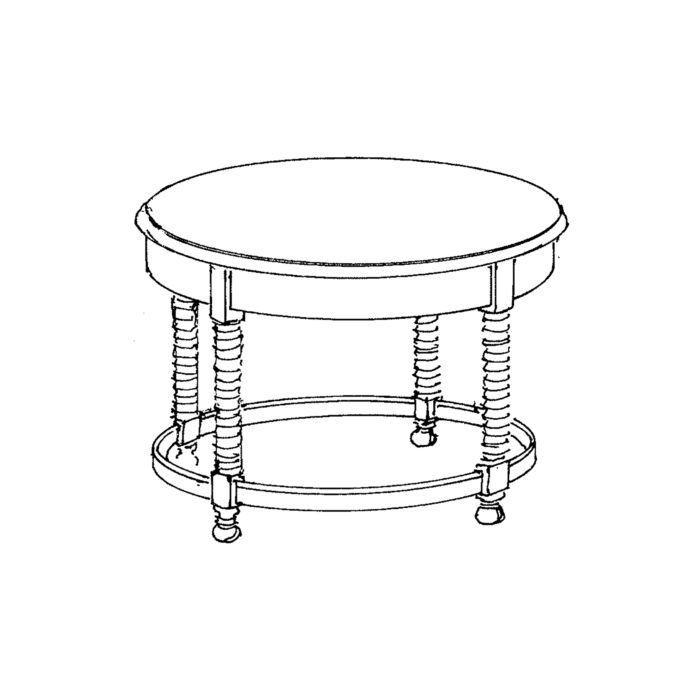 Louis XIII Side Table Custom Round