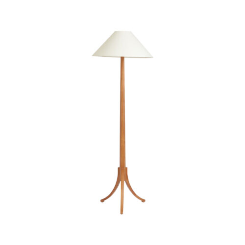 Three Legged Floor Lamp Mahogany