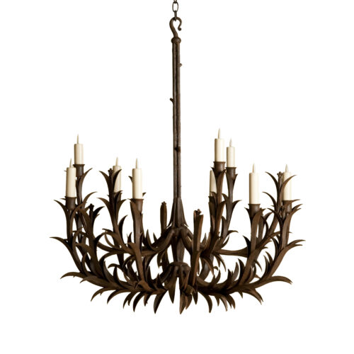 Sharp Leaf Chandelier