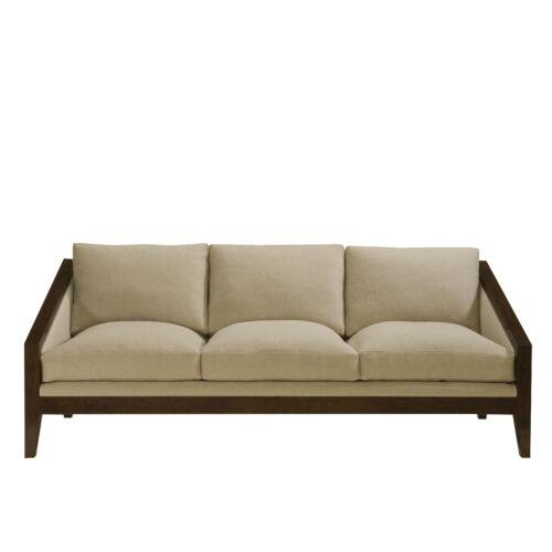 Grey Sofa Loose Back 84 Inch