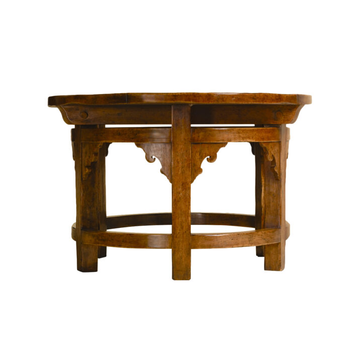 Goult Oval Hall Table End View
