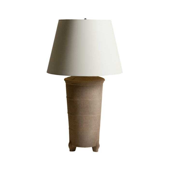 Chinese Ceramic Jar Lamp Grey
