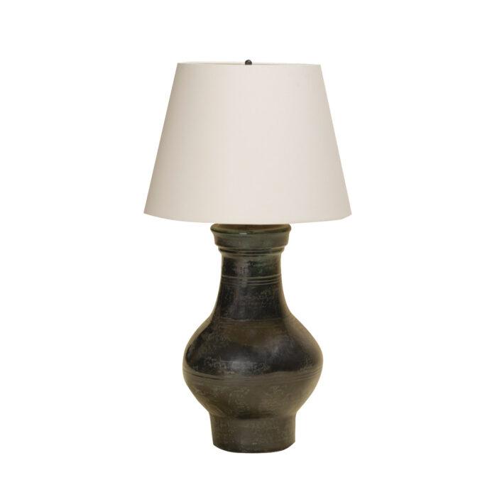 Chinese Ceramic Jar Lamp BlueGreen